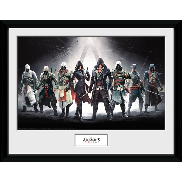 Assassins Creed Characters Framed Collector 30 x 40cm Print