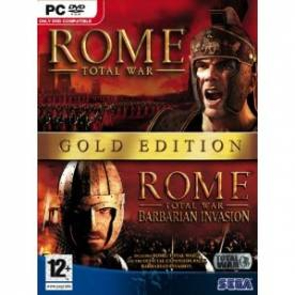Rome Gold Edition Game Total War & Barbarian Invasion Expansion Pack PC