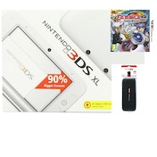 White Nintendo 3DS XL Console Bundle with Beyblade Evolution and 3DS XL Carry Case