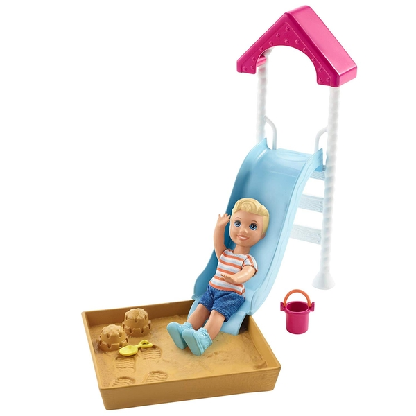 Barbie Skipper Babysitters Inc Doll and Playset - Small Slide and Sandbox