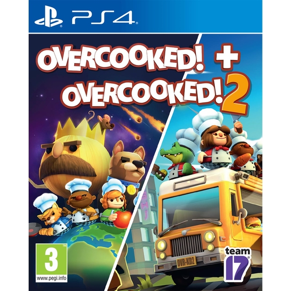 Overcooked! + Overcooked! 2 PS4 Game - Image 1