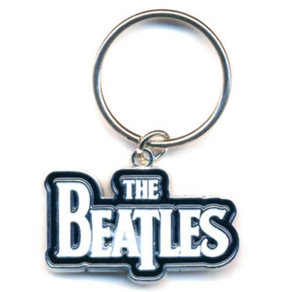 The Beatles - Drop T Logo (White) Keychain