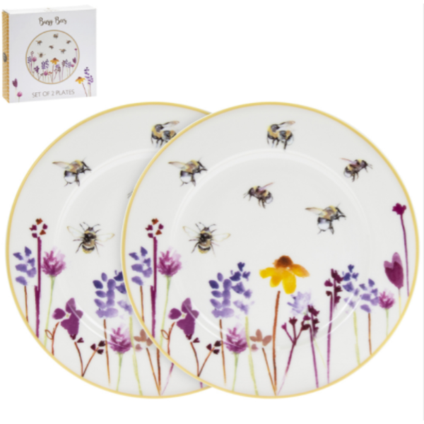 Busy Bees Plates 2 Set By Lesser & Pavey