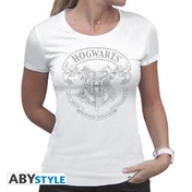 Harry Potter - Hogwarts Women's Large T-Shirt - White