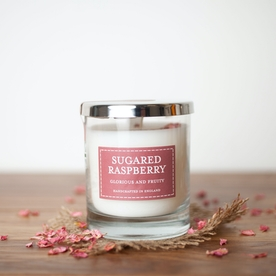 Sugared Raspberry (Pastels Collection) Glass Candle