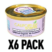 L.A Lavender (Pack Of 6) California Scents Spillproof Organic Canister