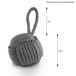 Rope Knot Door Stop | M&W Grey - Image 3