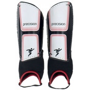 Precision Vector Shin & Ankle Pads Large Black/White/Red