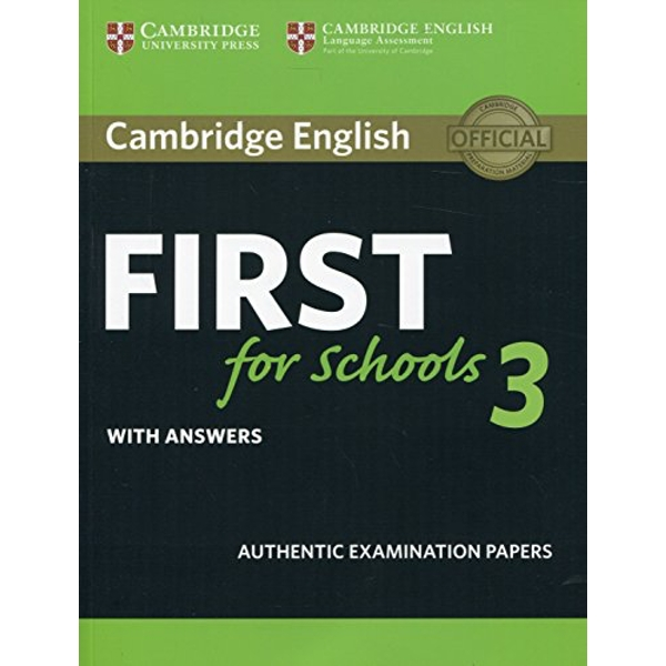 Cambridge English First for Schools 3 Student's Book with Answers  Paperback / softback 2018