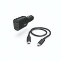 Hama USB-C PSU for Cars, Power Delivery (PD), 5-20V/70W, USB-C Cable,1 m
