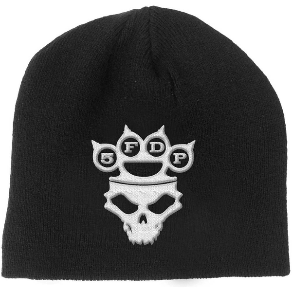 Five Finger Death Punch - Knuckle-Duster Logo & Skull Men's Beanie Hat - Black