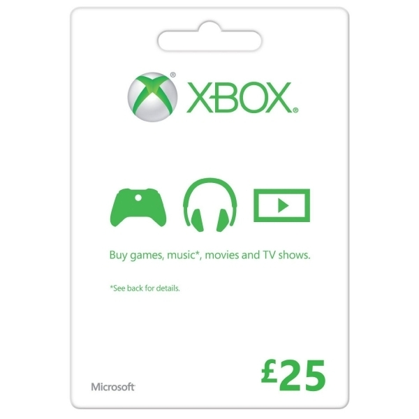 Microsoft Money (Gift Card) Twenty Five 25 Pounds Xbox 360 and Xbox One Digital Download