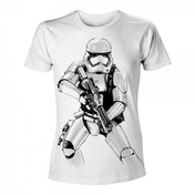 Star Wars VII The Force Awakens Adult Male Armed Stormtrooper Sketch XX-Large T-Shirt