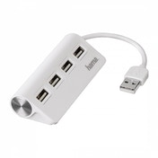 Hama USB 2.0 Hub 1:4 Bus Powered (White)