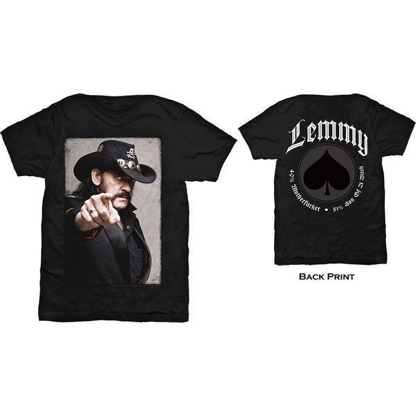 Lemmy - Pointing Photo Unisex XX-Large T-Shirt - Black