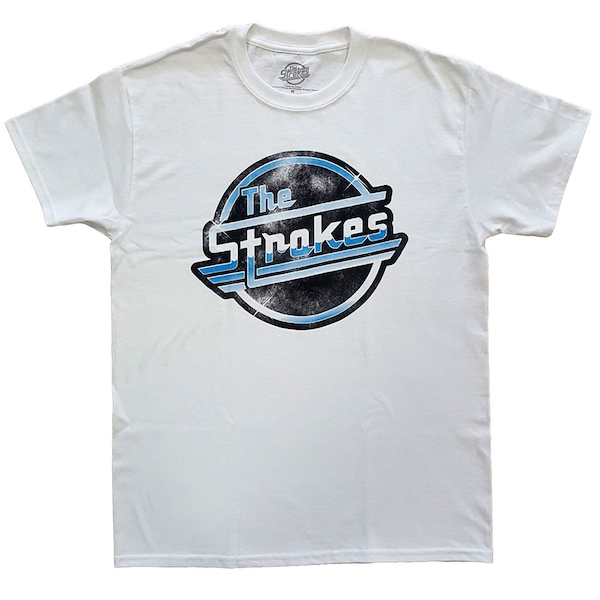 The Strokes - Distressed OG Magna Unisex Small T-Shirt - White