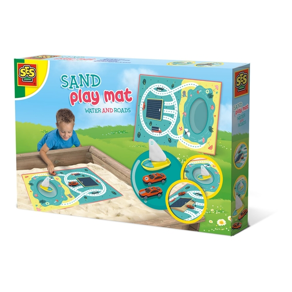 SES Creative - Children's Water and Roads Sand Play Mat (Multi-colour)