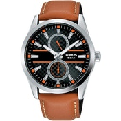 Lorus R3A61AX9 Mens Dress Multidial Watch with Tan Strap