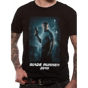Blade Runner 2049 - Deckard Full Shot White Logo Men's X-Large T-Shirt - Black