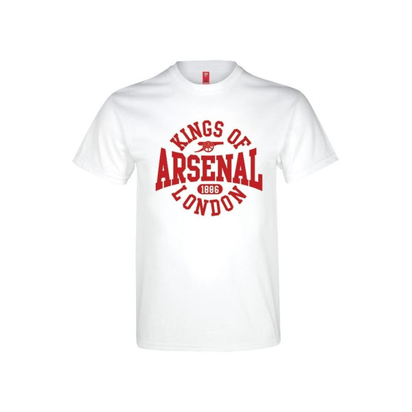 Arsenal Kings Of London T Shirt Youths White 12-13 Years
