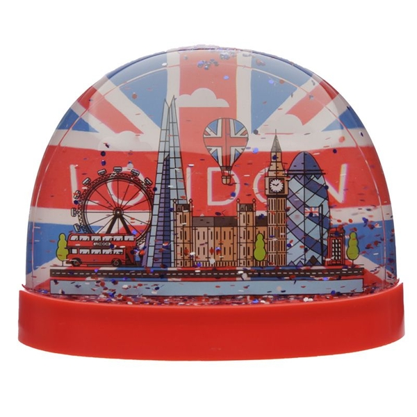 London Union Jack Large Glitter Snow Storm
