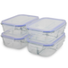 Set of 4 Glass Meal Prep Containers| M&W 3 Compartment - Image 5
