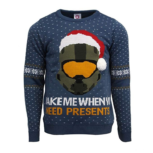 Halo - Wake Me When You Need Presents Unisex XX-Large Christmas Jumper