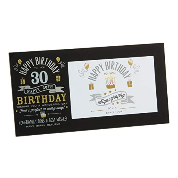 "6"" x 4"" - Signography 30th Birthday Glass Frame"