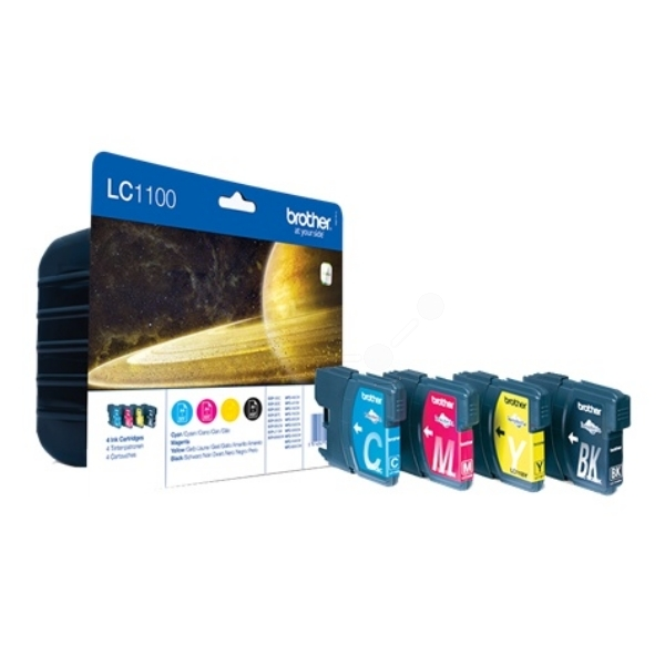 Brother LC1100 Value Pack Ink (BK C M Y)