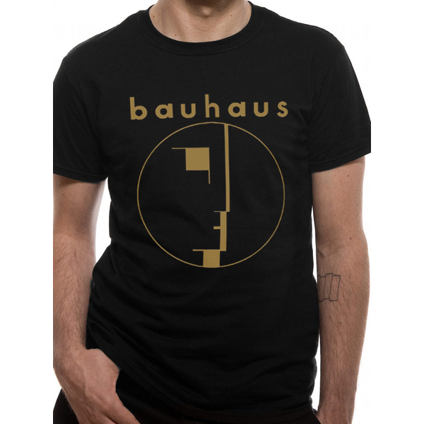 Bauhaus - Gold Spirit Logo Men's Medium T-Shirt - Black