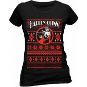 Harley Quinn - Fair Isle Unisex X-Large T-Shirt - Black
