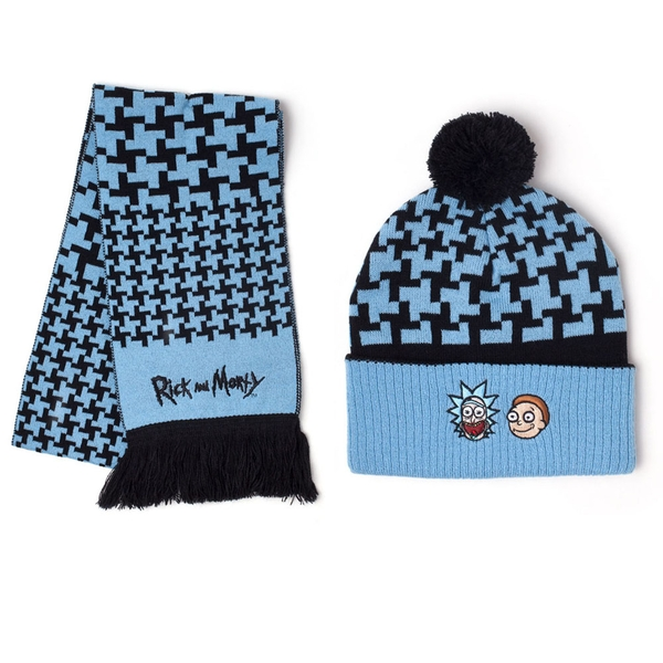 Rick And Morty - Rick And Morty Unisex One Size Beanie - Blue/Black