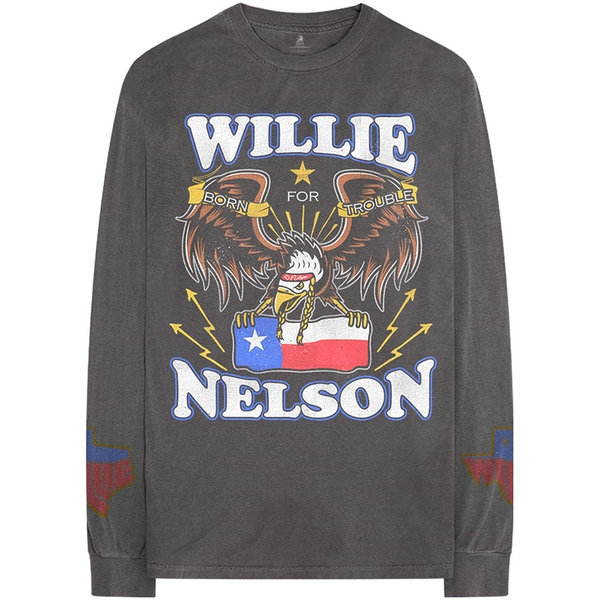Willie Nelson - Texan Pride Unisex Large T-Shirt - Grey