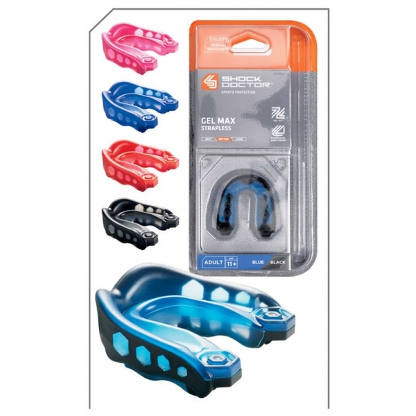 Shockdoctor Mouthguard Max Adults Blue