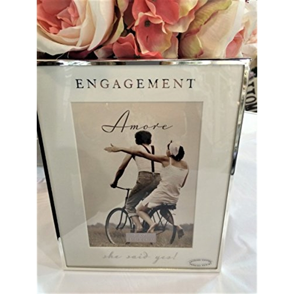 """5"""" x 7"""" - AMORE BY JULIANA? Silver Frame - Engagement"""