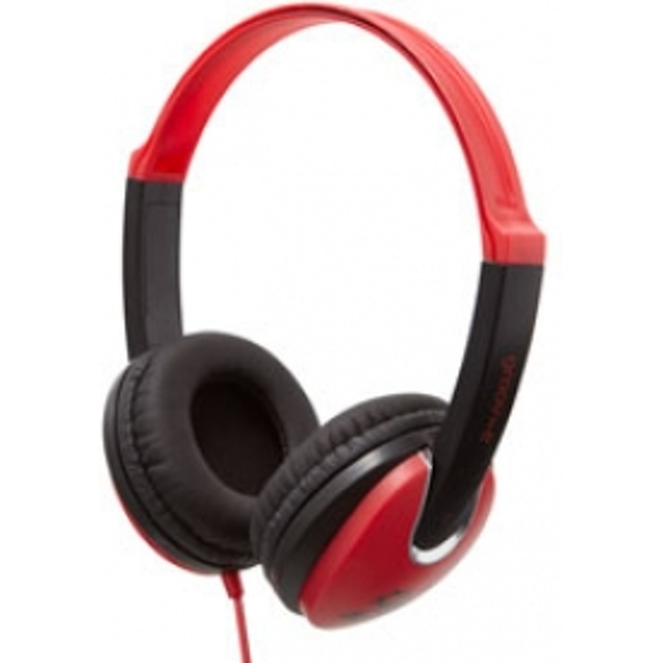 Groov-e Kidz DJ Style Headphones Red and Black