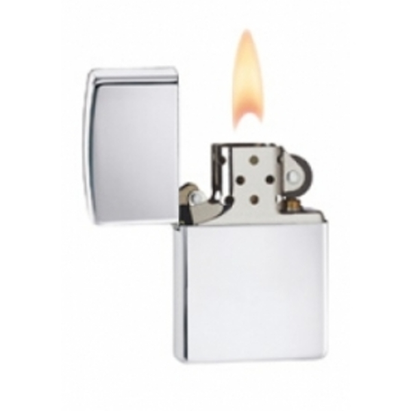 Zippo Regular High Polish Chrome Lighter - Image 2