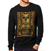 Crimes Of Grindelwald - Gold Foil Book Cover Men's Large Sweater - Black