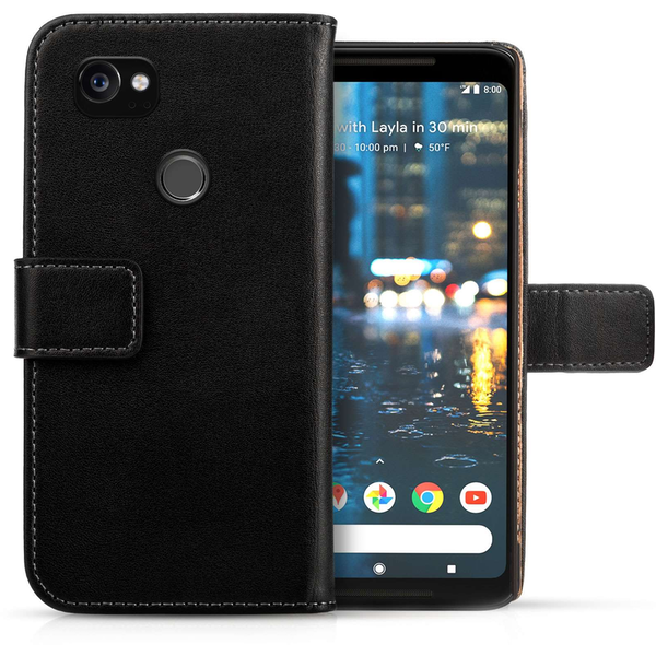 Google Pixel 2 XL Real Leather Wallet - Black