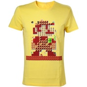 Nintendo Super Mario Bros. Giant Mario 30th Anniversary Mens Medium Yellow T-Shirt