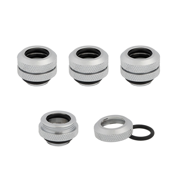 Corsair Hydro X Series XF Hardline 14mm Chrome Fittings - Four Pack (CX-9052007-WW)