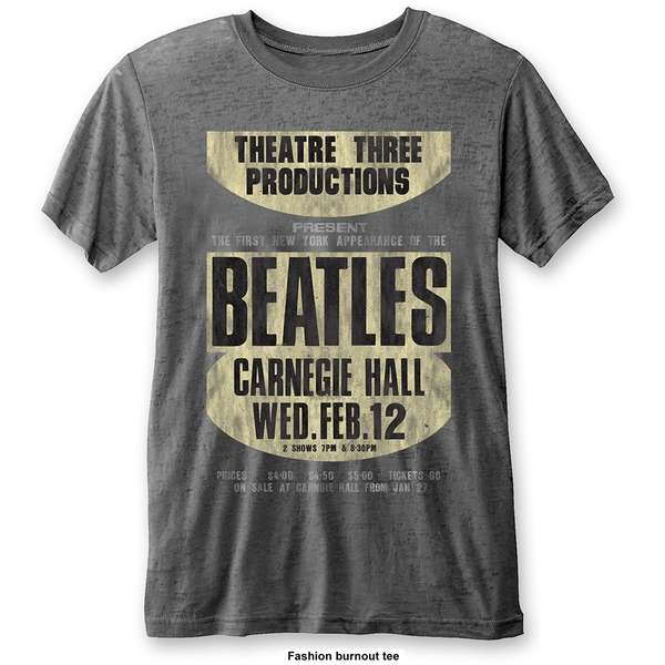 The Beatles - Carnegie Hall Unisex XX-Large T-Shirt - Grey