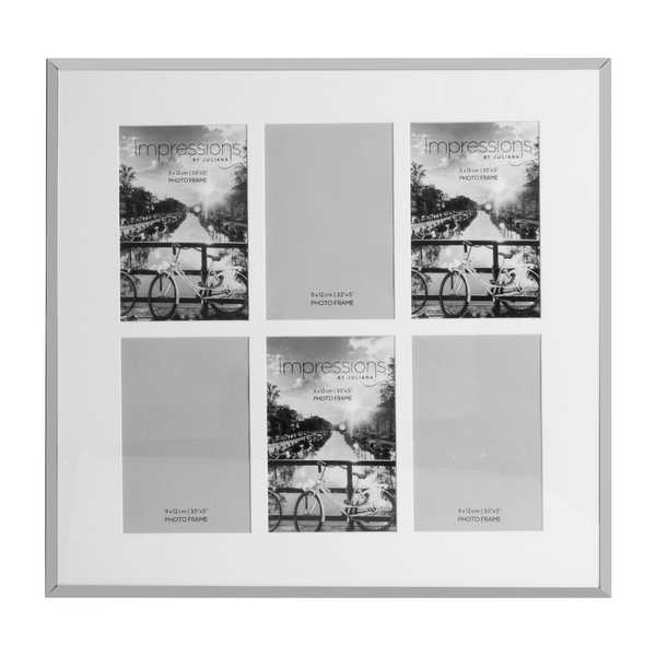 Impressions Nickel Plated Photo Frame 6 Apertures | 3.5 X 5
