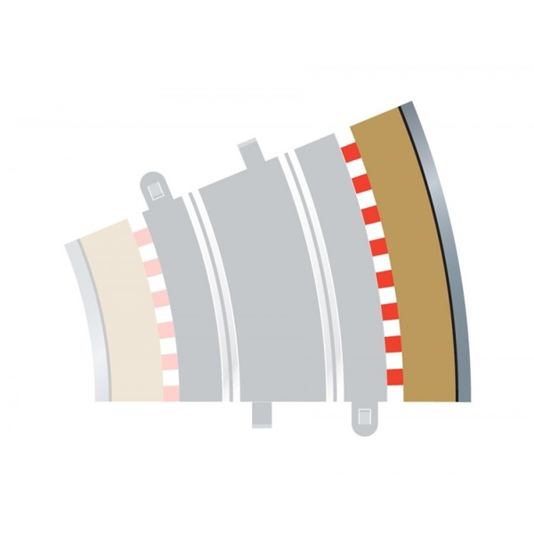 Radius 3 Curve Outer Borders 22.5° (Set Of 4) Scalextric Accessory Pack