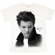 One Direction Louis Solo B&W Ladies White T Shirt: X Large