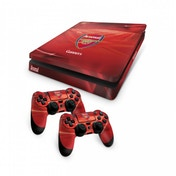 Official Arsenal FC PS4 Slim Console Skin and 2x Controller Skin Combo Pack