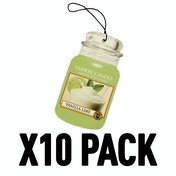 Vanilla Lime (Pack Of 10) Yankee Candle Car Jar Air Freshener