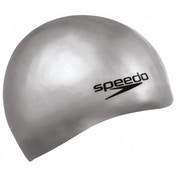 Speedo Moulded Silicone Caps Senior Grey