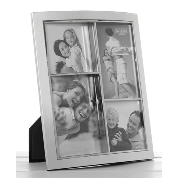 Silver Anodised Multi Frame 4 Pictures