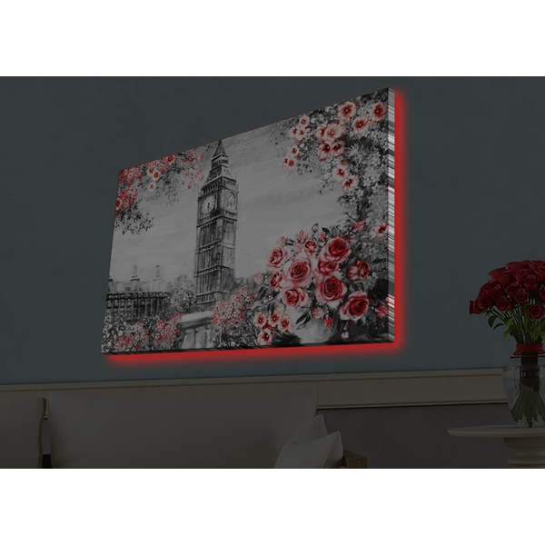 4570HDACT-089 Multicolor Decorative Led Lighted Canvas Painting